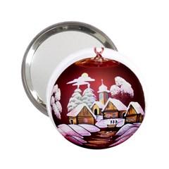 Christmas Decor Christmas Ornaments 2.25  Handbag Mirrors
