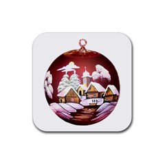 Christmas Decor Christmas Ornaments Rubber Square Coaster (4 Pack)