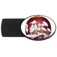 Christmas Decor Christmas Ornaments USB Flash Drive Oval (1 GB)