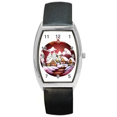 Christmas Decor Christmas Ornaments Barrel Style Metal Watch