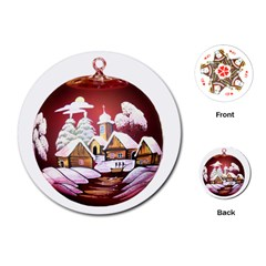 Christmas Decor Christmas Ornaments Playing Cards (round)
