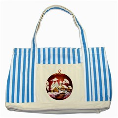 Christmas Decor Christmas Ornaments Striped Blue Tote Bag