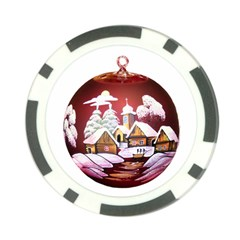 Christmas Decor Christmas Ornaments Poker Chip Card Guard (10 pack)