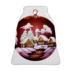 Christmas Decor Christmas Ornaments Bell Ornament (Two Sides)