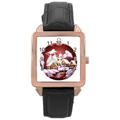 Christmas Decor Christmas Ornaments Rose Gold Leather Watch