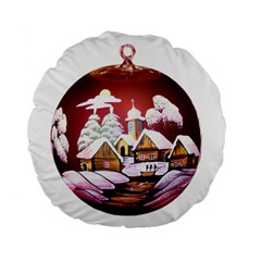 Christmas Decor Christmas Ornaments Standard 15  Premium Flano Round Cushions