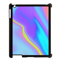 Aurora Color Rainbow Space Blue Sky Purple Yellow Apple Ipad 3/4 Case (black)