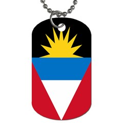 Banner Flag Sun Line Chevron Red White Black Blue Dog Tag (two Sides)