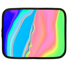 Aurora Color Rainbow Space Blue Sky Purple Yellow Green Pink Netbook Case (xxl)