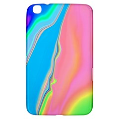 Aurora Color Rainbow Space Blue Sky Purple Yellow Green Pink Samsung Galaxy Tab 3 (8 ) T3100 Hardshell Case