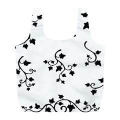 Black Leaf Tatto Full Print Recycle Bags (l)