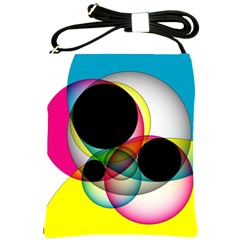 Apollonius Color Multi Circle Polkadot Shoulder Sling Bags