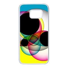 Apollonius Color Multi Circle Polkadot Samsung Galaxy S7 White Seamless Case