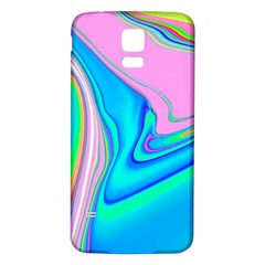 Aurora Color Rainbow Space Blue Sky Purple Yellow Green Pink Red Samsung Galaxy S5 Back Case (white)