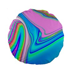 Aurora Color Rainbow Space Blue Sky Purple Yellow Green Pink Red Standard 15  Premium Flano Round Cushions