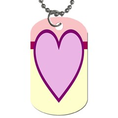 Cute Gender Gendercute Flags Love Heart Line Valentine Dog Tag (one Side)