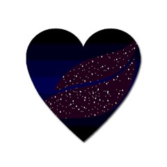 Contigender Flags Star Polka Space Blue Sky Black Brown Heart Magnet