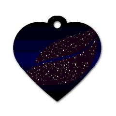 Contigender Flags Star Polka Space Blue Sky Black Brown Dog Tag Heart (two Sides)