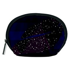 Contigender Flags Star Polka Space Blue Sky Black Brown Accessory Pouches (medium)