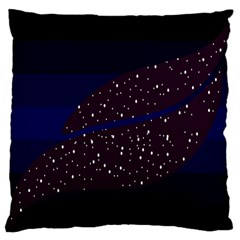 Contigender Flags Star Polka Space Blue Sky Black Brown Large Flano Cushion Case (one Side)