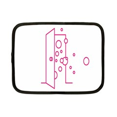Deep Clean Bubbel Door Pink Polka Circle Netbook Case (small)