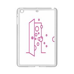 Deep Clean Bubbel Door Pink Polka Circle Ipad Mini 2 Enamel Coated Cases