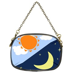 Day Night Moon Stars Cloud Stars Chain Purses (two Sides)