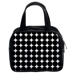 Dotted Pattern Png Dots Square Grid Abuse Black Classic Handbags (2 Sides)