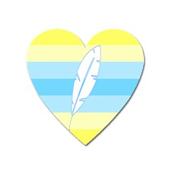Feather Flags Heart Magnet