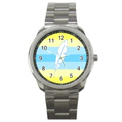 Feather Flags Sport Metal Watch