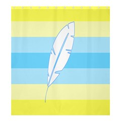 Feather Flags Shower Curtain 66  X 72  (large)