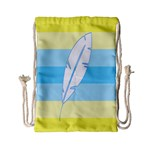 Feather Flags Drawstring Bag (Small) Back