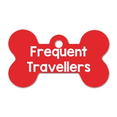 Frequent Travellers Red Dog Tag Bone (one Side)