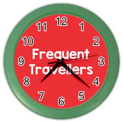 Frequent Travellers Red Color Wall Clocks