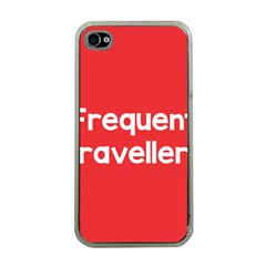 Frequent Travellers Red Apple Iphone 4 Case (clear)
