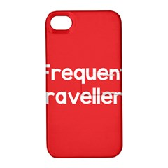Frequent Travellers Red Apple Iphone 4/4s Hardshell Case With Stand