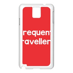 Frequent Travellers Red Samsung Galaxy Note 3 N9005 Case (white)