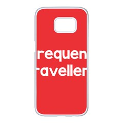 Frequent Travellers Red Samsung Galaxy S7 Edge White Seamless Case