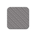 Capsul Another Grey Diamond Metal Texture Rubber Square Coaster (4 pack)  Front