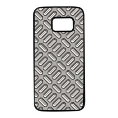 Capsul Another Grey Diamond Metal Texture Samsung Galaxy S7 Black Seamless Case