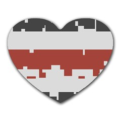 Girl Flags Plaid Red Black Heart Mousepads