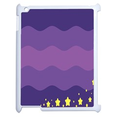 Glimragender Flags Wave Waves Chevron Purple Blue Star Yellow Space Apple Ipad 2 Case (white)