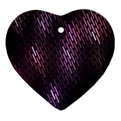 Light Lines Purple Black Heart Ornament (two Sides)