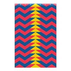 Lllustration Geometric Red Blue Yellow Chevron Wave Line Shower Curtain 48  X 72  (small)