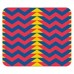 Lllustration Geometric Red Blue Yellow Chevron Wave Line Double Sided Flano Blanket (Small)  50 x40 Blanket Front