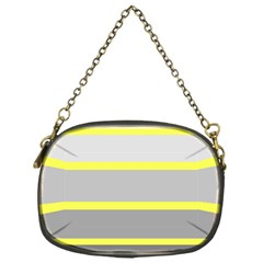 Molly Gender Line Flag Yellow Grey Chain Purses (one Side)