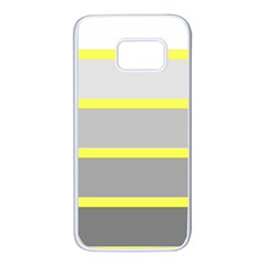 Molly Gender Line Flag Yellow Grey Samsung Galaxy S7 White Seamless Case