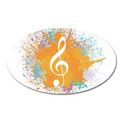 Musical Notes Oval Magnet