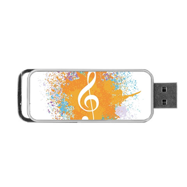 Musical Notes Portable USB Flash (Two Sides)