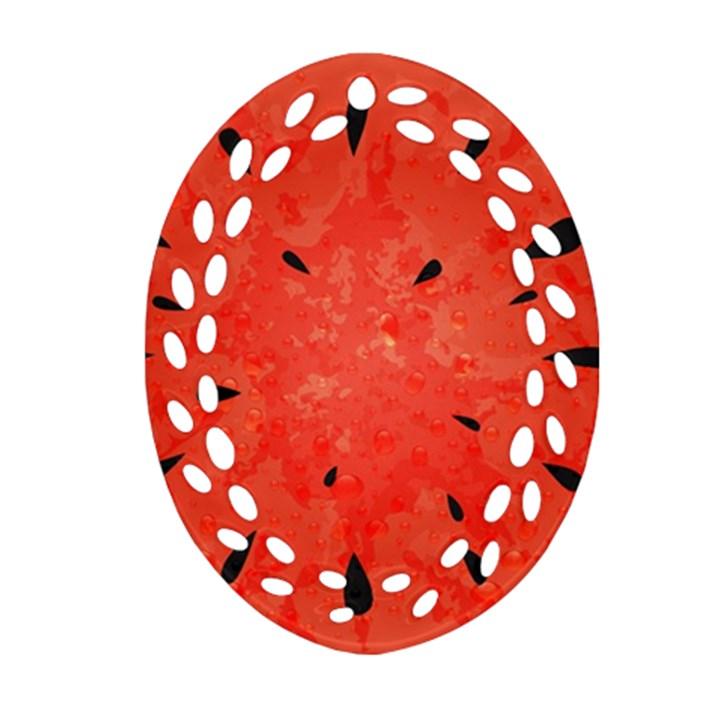 Summer watermelon design Ornament (Oval Filigree)